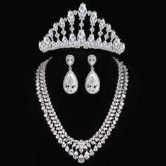 Charme Cobre/Zircon Senhoras Conjuntos de jóias