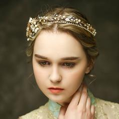 Glamorosa Rhinestone/La perla de faux Diademas