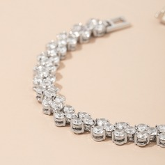 Shining Zircon/Platinum Plated Ladies' Bracelets