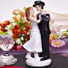 Dança do casal Resina Casamento Decorações de bolos