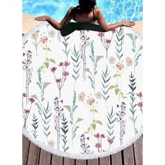 Blommig överdimensionerad/attraktiv handduk
