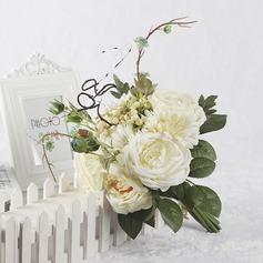 Elegant Satin Bridal Bouquets/Bridesmaid Bouquets (Sold in a single piece) - Bridal Bouquets