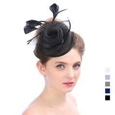 Damen Elegant Organza mit Feder Kopfschmuck