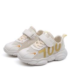 Girl's Ronde neus Closed Toe Mesh Flat Heel Flats Sneakers & Sportschoenen met Velcro Vastrijgen