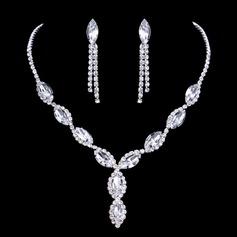 Elegant Legering/Strass Damer' Smycken Sets