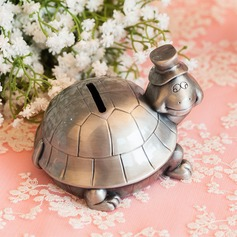 11cm*9cm*8cm Lovely Tortoise Design Tin Alloy Money Box