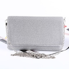 Elegant Satin/Aluminum Clutches (012175417)
