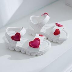 Girl's Peep Toe Slingback imitatieleer Flat Heel Sandalen Flats Sneakers & Sportschoenen met Velcro