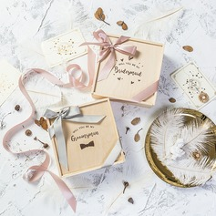 Bruidsmeisje Gifts - Houten Satijn Geschenkdoos / tas (256206245)