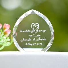 Personalized Double Hearts Crystal