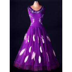 Women's Dancewear Spandex Organza Latin Dance Dresses (115091481)