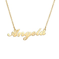 Custom 18k Gold Plated Silver Name Necklace - Birthday Gifts Mother's Day Gifts (288209250)
