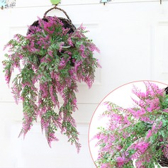 14 Branch Polyester plastic Plants Wall Flower Artificial Flowers