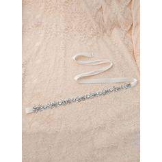 Elegant Satin Sash With Rhinestones (015118639)