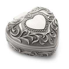 Söt Hjärtaåterförsäl Jare Legering/Silver Damer' Smyckeskrin