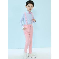 gutter 4 stykker Elegant Suits til ringbærere /Side Boy Suits med Skjorte Bukser sløyfe Suspender