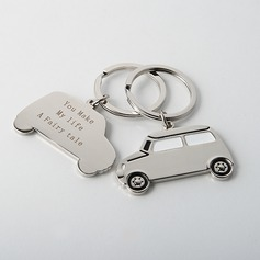 Personalized Car Design Zinc Alloy Keychains (Set of 4) (051028893)