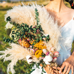 Charming Dried Flower Bridal Bouquets (Sold in a single piece) - Bridal Bouquets