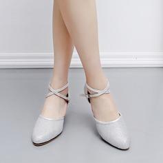 Женщины кожа На каблуках Сандалии Латино Обувь для танцев