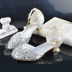 Girl's Round Toe Closed Toe Leatherette Flower Girl Shoes
