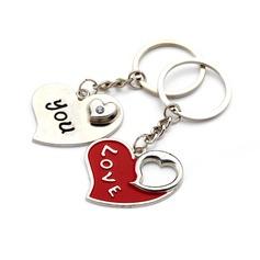 Personalizado Amor Recorte Liga de zinco Chaveiros (Conjunto de 6 Pares)