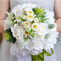 Simple And Elegant Free-Form Artificial Flower Bridal Bouquets (Sold in a single piece) -