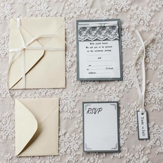 Personalized Vintage Style Flat Card Invitation Cards (Set of 10)