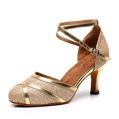 De mujer Cuero Tacones Salón Sala de Baile con Tira de tobillo Zapatos de danza