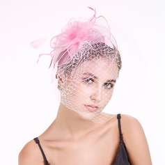 Ladies ' Classic Fjer/Netto garn med Fjer Fascinators