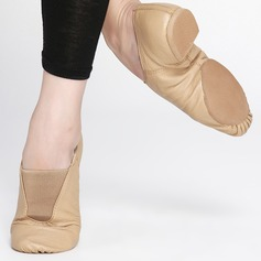 Donna Vera pelle Ballerine Balletto Jazz Prova Scarpe da ballo