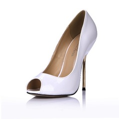 Patent Leather Stiletto Heel Sandalen Pumps Peep Toe schoenen