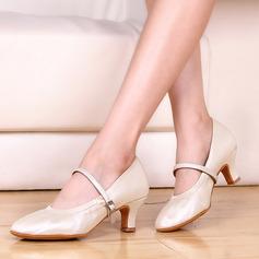 Vrouwen Kunstleer Hakken Character Shoes met Gesp Dansschoenen