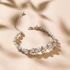 Klassische Art Legierung/Strasssteine/Faux-Perlen Damen Armbänder