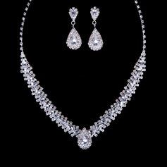 Lindo Liga com Strass Mulheres Conjuntos de jóias
