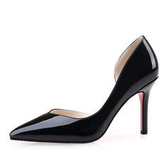 De mujer Piel brillante Tacón stilettos Salón Cerrados zapatos