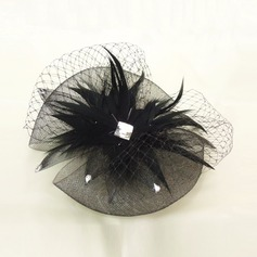 Ladies ' Fjer/Netto garn Fascinators