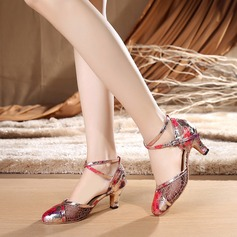 Женщины Кружева На каблуках Бальные танцы с Ремешок на щиколотке Обувь для танцев