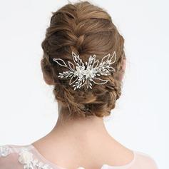 Damen Elegant Strass/Legierung/Faux-Perlen Kämme und Haarspangen mit Strass/Venezianischen Perle (In Einem Stück Verkauft)