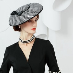 Polyester With Silk Flower Bowler/Cloche Hat