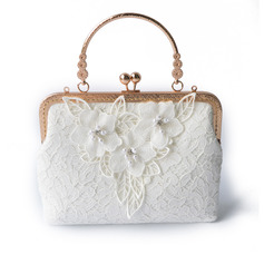 Charming Linen Clutches/Wristlets/Top Handle Bags/Bridal Purse (012219881)