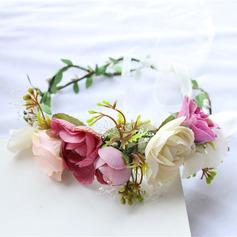 Schöne Seide Blumen/Simulation Peddigrohr Stirnbänder