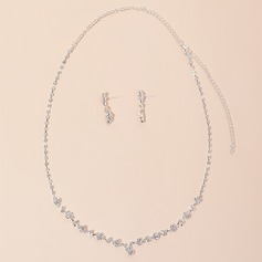 Alloy/Rhinestones Ladies' Jewelry Sets