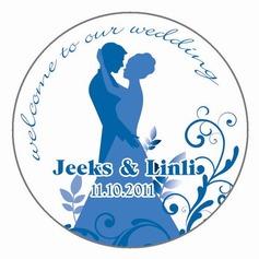 Personlig Brud och brudgummen tätskikt Material Klistermärken (Set av 90)