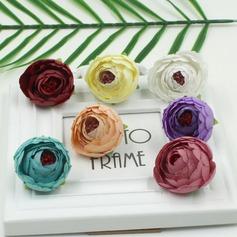 Bonito/Desenho de flor Seda/Cetim Flores Artificiais (conjunto de 100)