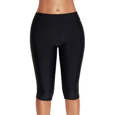 Mujeres Estilo clásico/Deportes Transpirabilidad/Permeabilidad a la humedad Mediana Cintura Pantalones Cortos Fajas