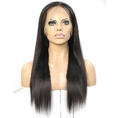 4A non remy Vague d'eau Cheveux humains Perruques avant en dentelle