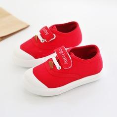 Unisexe en tissu talon plat Bout fermé Chaussures plates avec Velcro