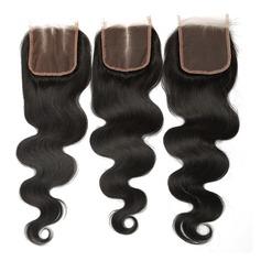 """4""""*4"""" 4A Corps les cheveux humains Fermeture (Vendu en une seule pièce)"""