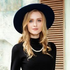 Señoras' Moda Madera Disquete Sombrero