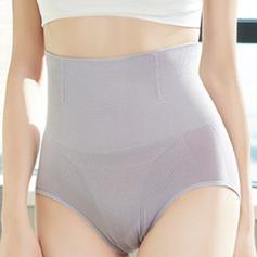 Women Feminine Chinlon/Nylon High Waist Briefs Body Shaper Panties